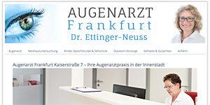 Gesundheitskommunikation Arzt-Webseite Augenarzt Frankfurt