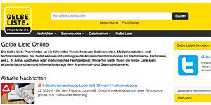 Medikamenten-Ratgeber: gelbe-liste.de