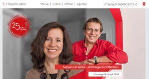Homepage Werbeagentur Seippel & Weihe